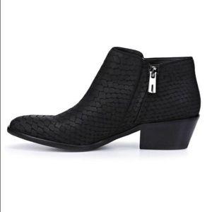 Sam Edelman Shoes - Sam Edelman Black Petty Snakeskin Booties